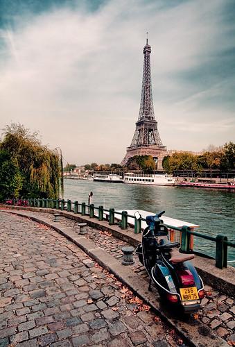 Vintage Paris Moped Scooter