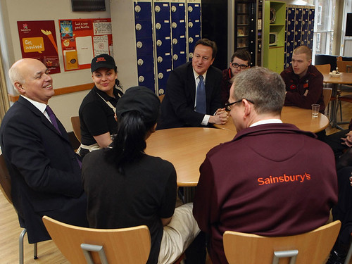 Discussing welfare reform with Sainsbury's staff