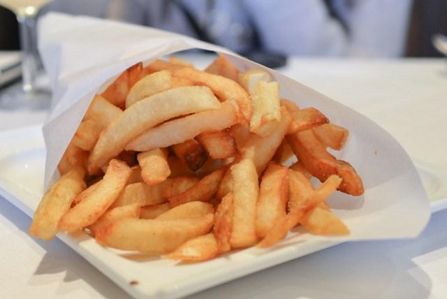 oc register fresh pommes frites twice fried (140 and 180 degrees)