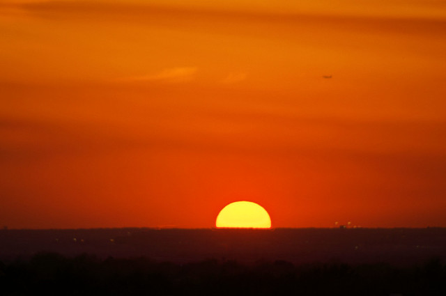 Sunset from hotel in Plano, Texas, March 11, 2011