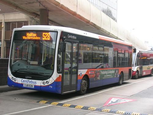 Optare Tempo, Centrebus, YJ10 EZK, Rochdale bus station