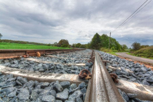 Järnvägsspår Mörrum