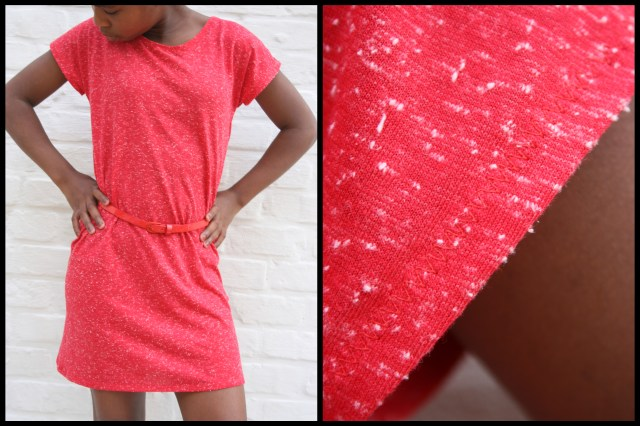 T-shirt dress (sleeve detail)