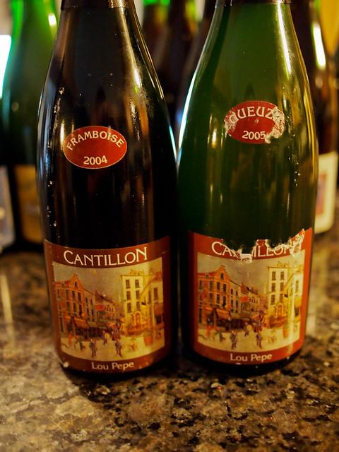 Cantillon Lou Pepe Framboise (2004) & Gueuze (2005)