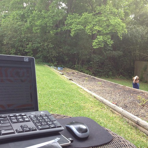 The best part of working from home? I can have an office outside. by baseaman