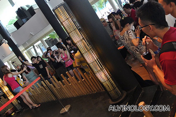 Everyone is eager to answer questions on Sentosa