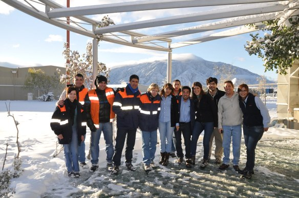 Llegó la nieve a la Minera Alumbrera!
