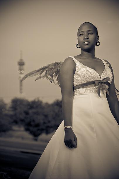 Johannesburg landmark in the background