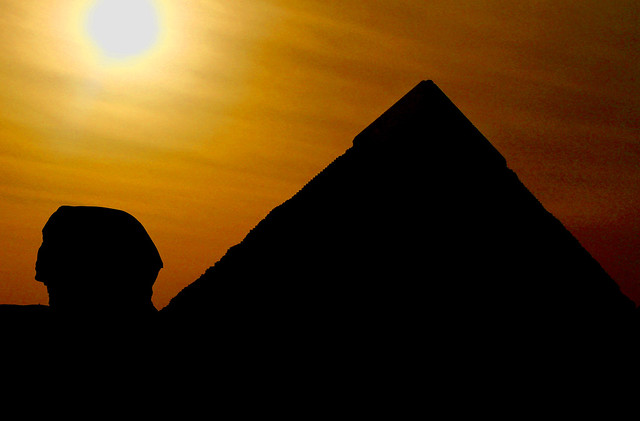 Image result for silhouette with pyramid