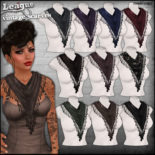 *League* Vintage Scarves2