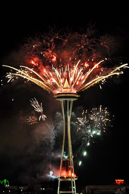 Fireworks at Space Needle (2011) | Flickr - Photo Sharing!