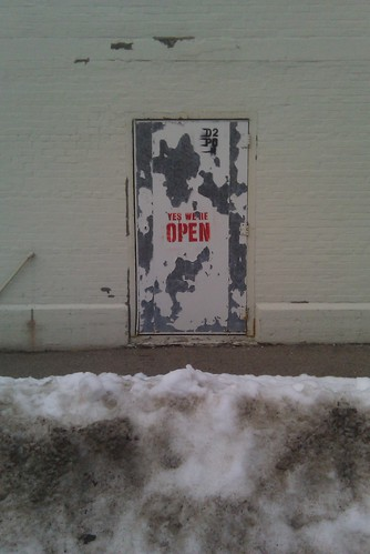 open closed door