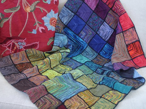 Stained glass afghan - seaming complete