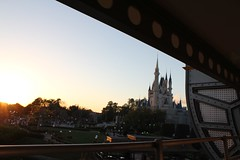 Castle view from the Tomorrowland Transportation Authority