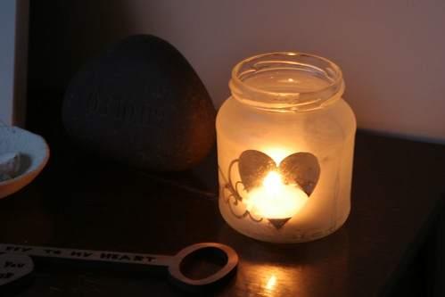 52 crafts in 52 weeks: etched glass candle holder