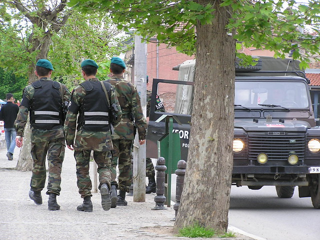 Turkish peacekeepers in Prizren, Kosovo