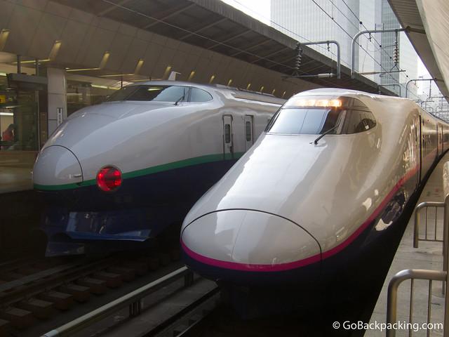 Bullet trains in Tokyo