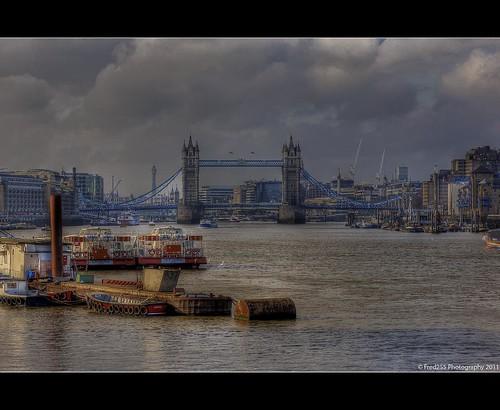 Looking West Towards Tower Bridge