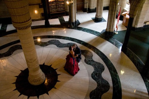 Jeff and Erin dancing in Center Block on Parliament Hill