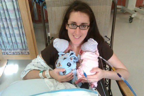 I went into labor at 26 weeks while pregnant with twins