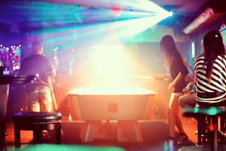 Fog Machine, Strobe Lights, and Billiards