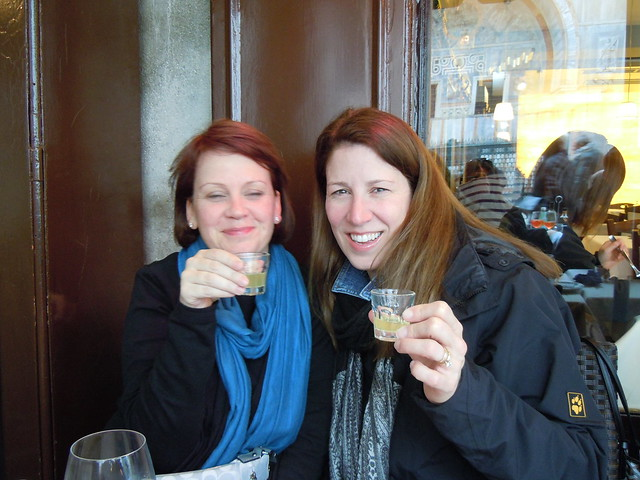 Ang & me enjoying Limoncello after lunch