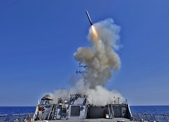 USS Barry fires Tomahawk missiles [Image 1 of 2]