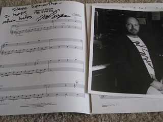 Autographed X-Files sheet music