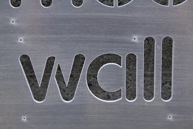 "Word Wall Panel Fresh From The WaterJet - ""wall"" Closeup"