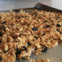 Orange, Currant and Coconut Granola