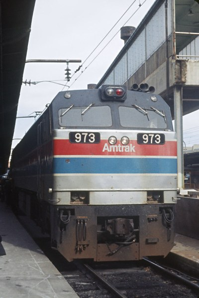 Amtrak E60CHs 973 and 974 -- 5 Photos