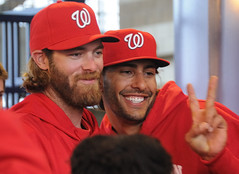 Jayson Werth and Michael Morse at NatsFest 2011