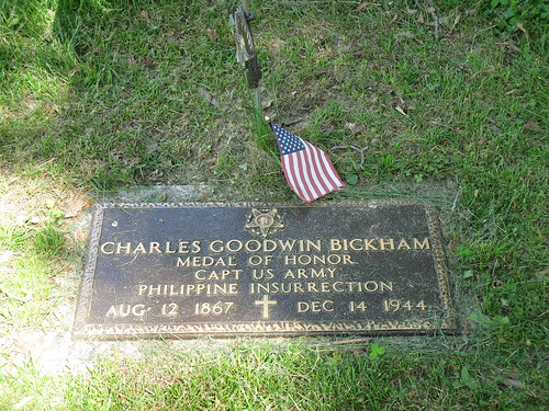 Grave of Charles G. Bickham, Woodland Cemetery