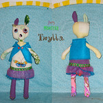 Happy Monster Easter Bunny: Twyla