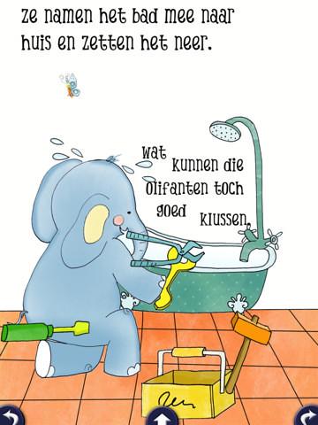 De Olifant in het Bad: Een interactieve iPad boek voor kinderen