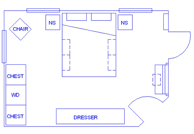 master bedroom layout plan