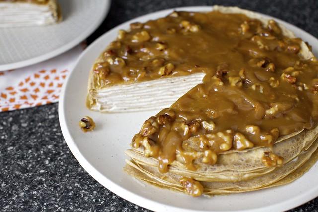 banana bread crepe cake
