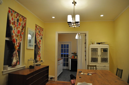 Dining room lighting - after
