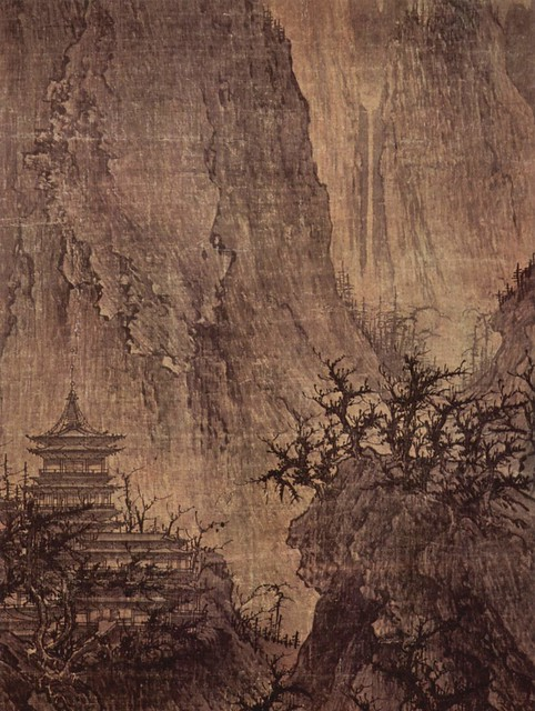 Buddhist Temple in the Mountains, 11th century. Via Wikimedia.