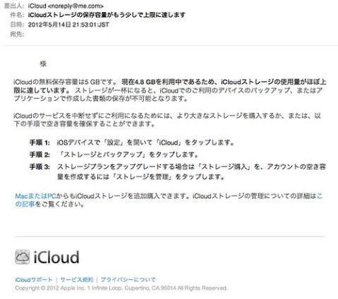 iCloudメッセージ