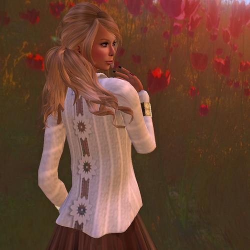 Morning blooms afresh . . .