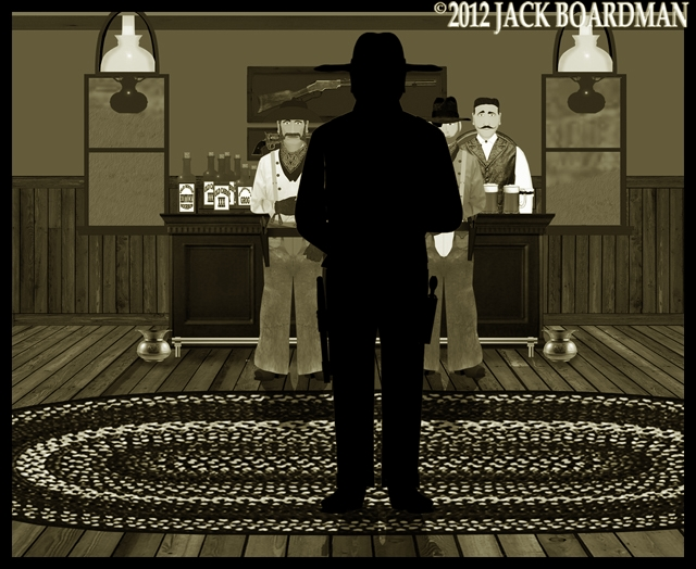 Big Mac entered Murdo Saloon ©2012 Jack Boardman