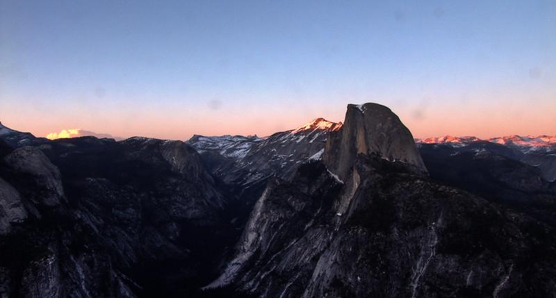 Sunset around Half Dome, Glacier Point, Yosemite National Park
