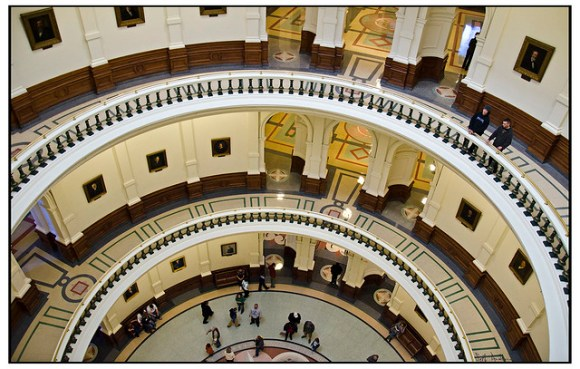 Looking Down- Texas Capitol Building Austin