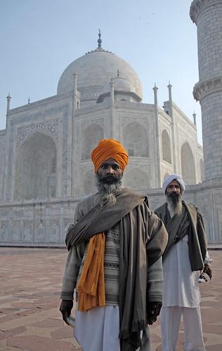 tourists at the Taj