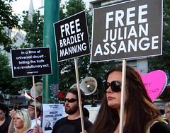 Free Julian Assange - Free Bradley Manning - Support Wikileaks