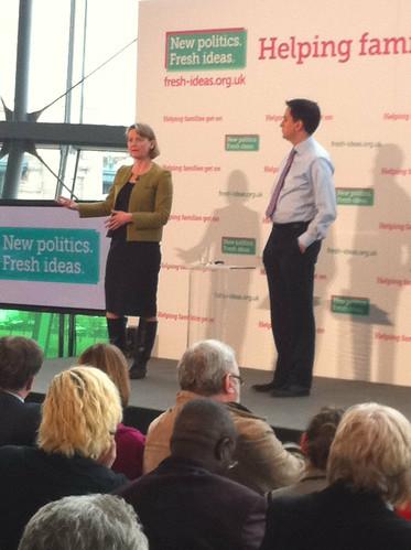Yvette Cooper and Ed Miliband