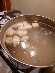 Homemade Gnocchi - Boiling