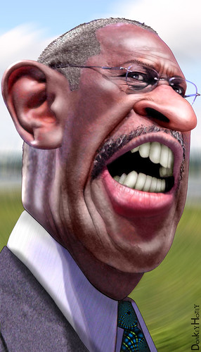 Herman Cain by DonkeyHotey