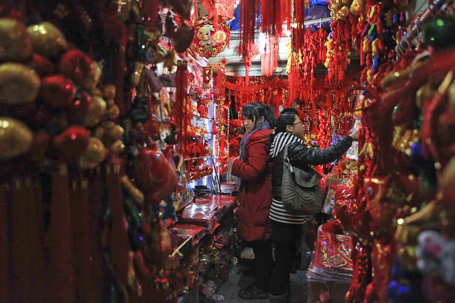 Awashed in Chinese new year deco ....